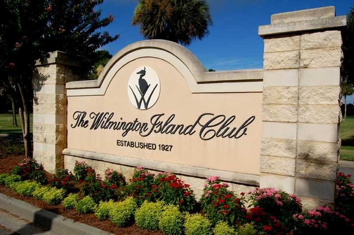 Wilmington Island Club Entrance